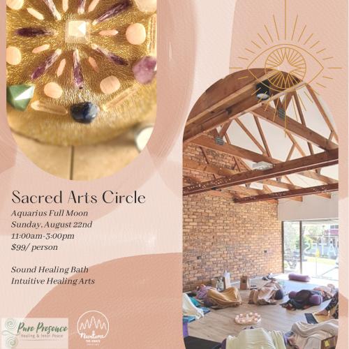 Art workshop meditation sound sister circle Brisbane